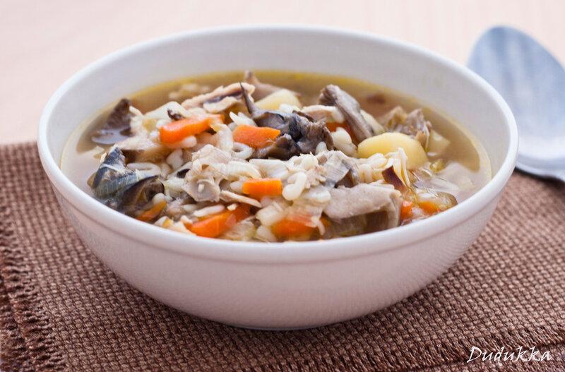 Суп из сушёных грибов с вермишелью рецепт