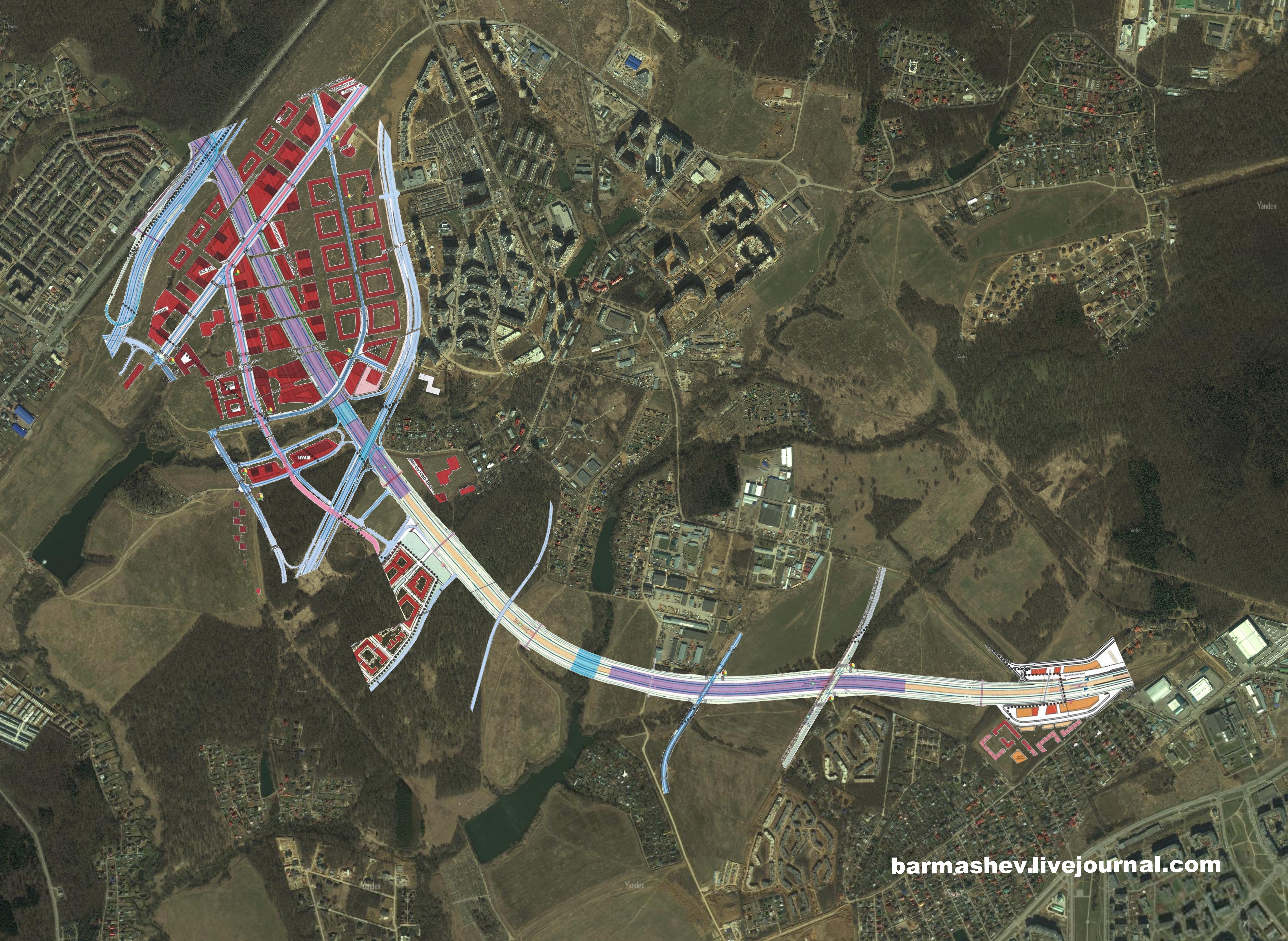 проект реконструкция калужского шоссе 2014 схема