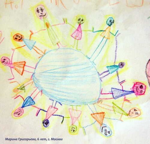 Mail-art: рисуют дети