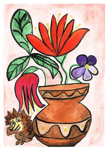 Цветы для ёжика*