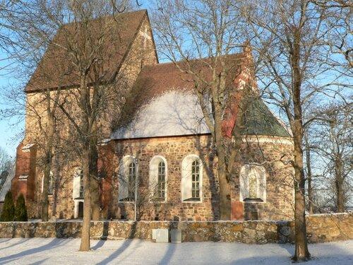 вид на церковь св. Троицы в уппсале