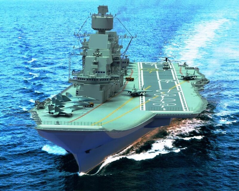 """Testes de mar do porta-aviões """"Vikramadítia"""""""