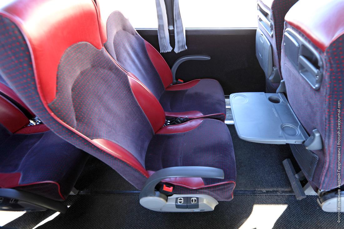 кресла салон автобуса Bova