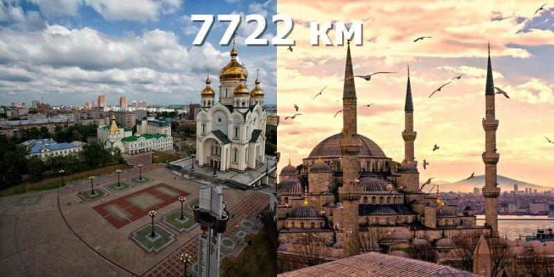 Расстояние между городами   сервисы расчета маршрута