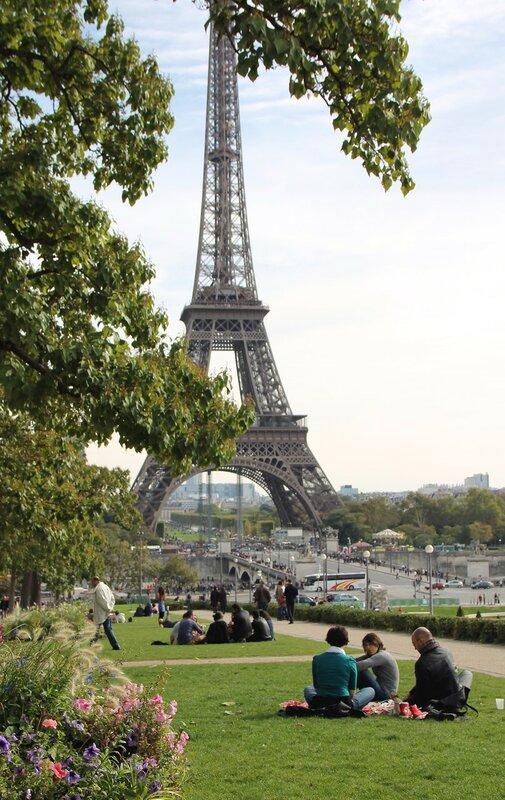 Осенний Париж. Парк Трокадеро (Jardins du Trocadéro)