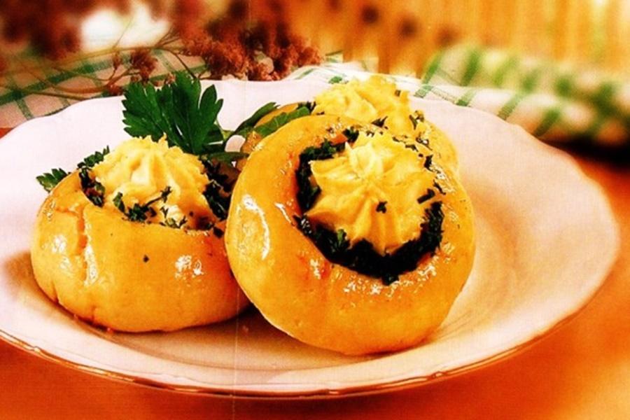Ватрушки картофельные с творогом