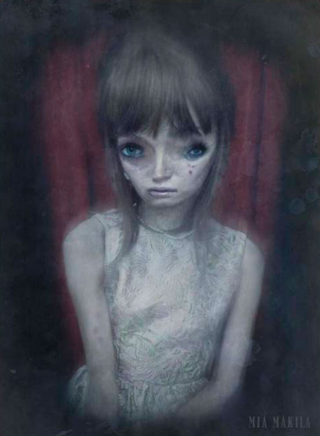 Необычные картины художницы страдающей шизофренией