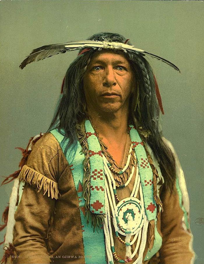 10 редких цветных снимков коренных американцев 19-го и 20-го века