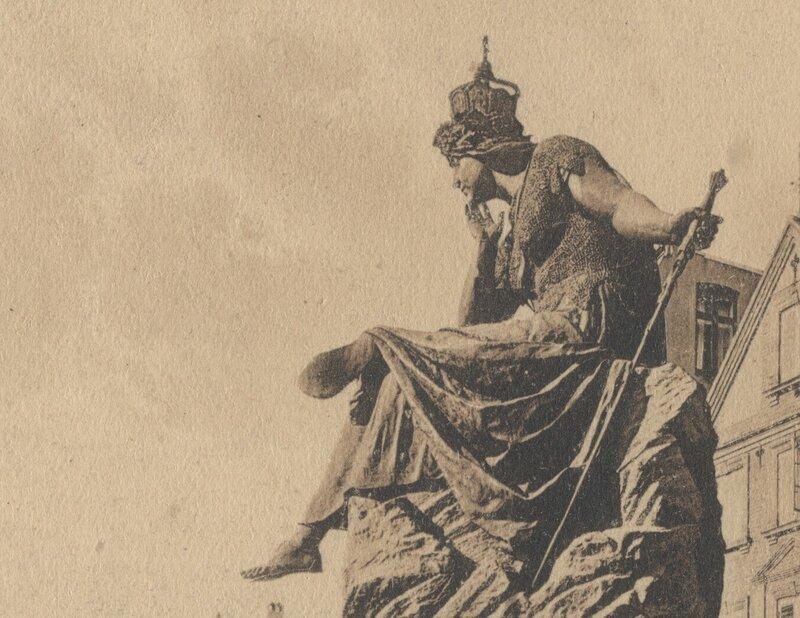 Bismarckbrunnen Flensburg - 1903 - Germania in groß