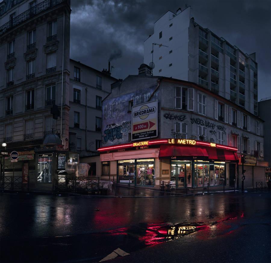 Le Metro, rue des Pyrenees, Paris XX.