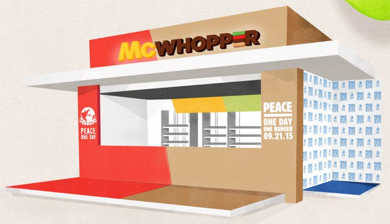 McWhopper - Burger King sends a collaboration proposal to McDonald's!