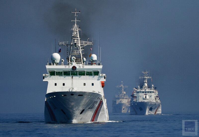 """Международные совместные учения кораблей береговой охраны """"Совместный удар"""" во Владивостоке"""