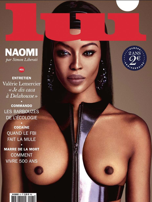 голая Наоми Кэмпбелл в журнале Lui october 2015 / Naomi Campbell nude by Luigi & Iango
