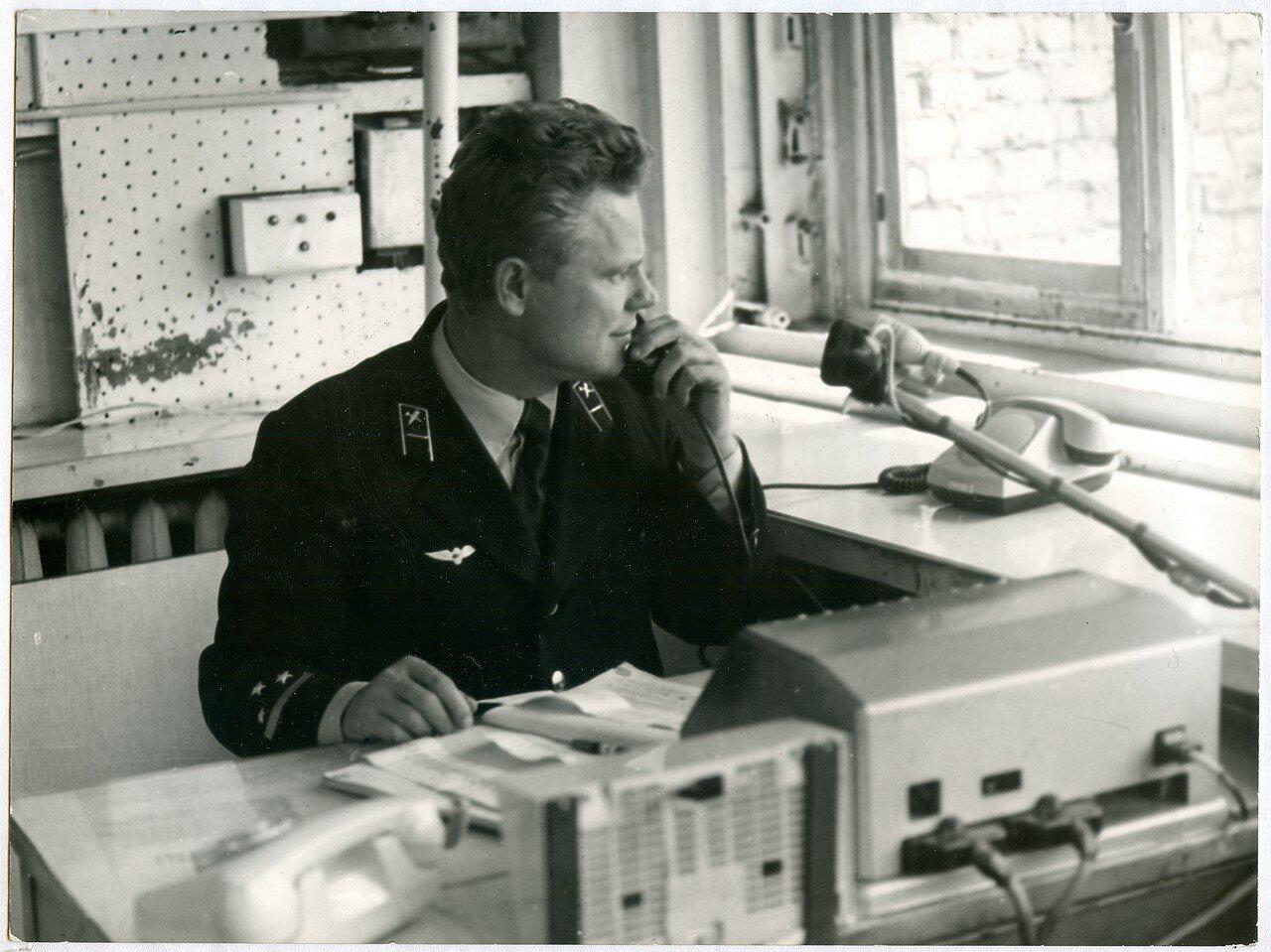 1970-е. Дежурный по четной горке Ф.Н. Евдокимов