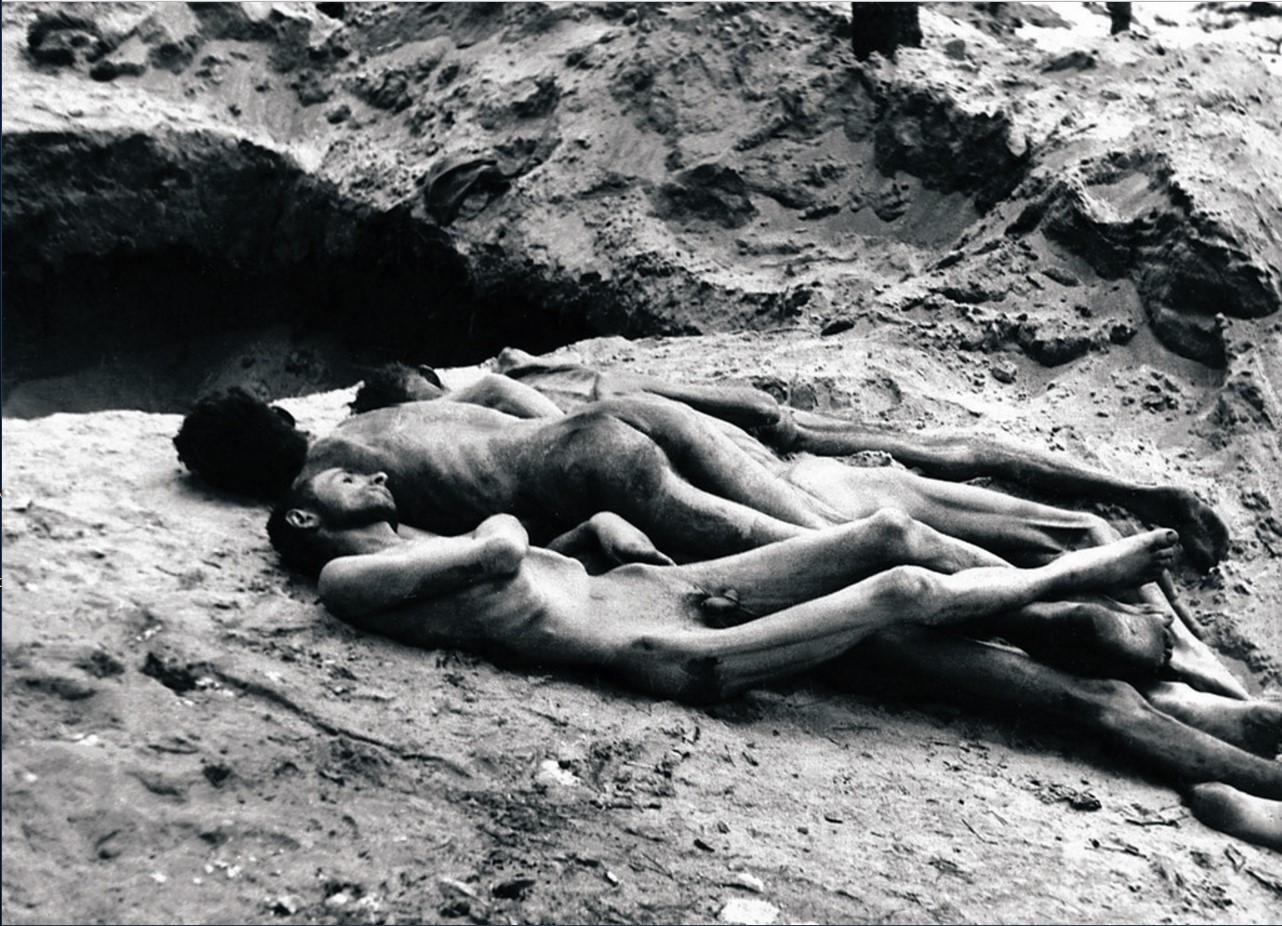 Один из лагерей смерти. Жертвы фашистских преступлений. Померания