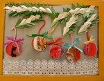 Грязева Дарья, Романов Артем (рук. Омарова Елена Георгиевна) - Новогодние шары на еловой ветке