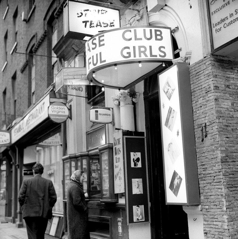 London Scenes - Soho - Striptease Clubs - 1966