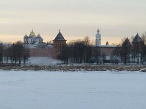 Софийский собор и Кремль - Новый год в Великом Новгороде