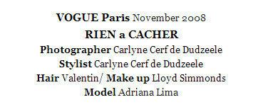 Adriana Lima   Vogue   Paris November 2008