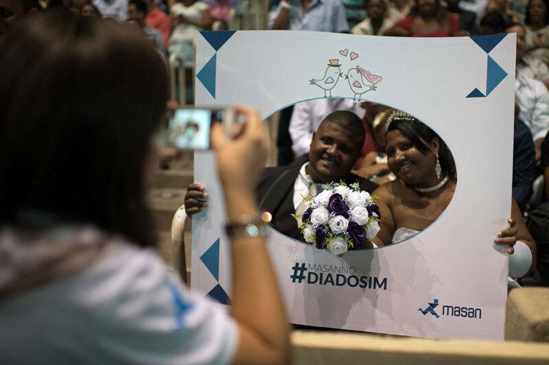 Рекорд Рио де Жанейро по количеству свадеб (1960 пар одновременно)