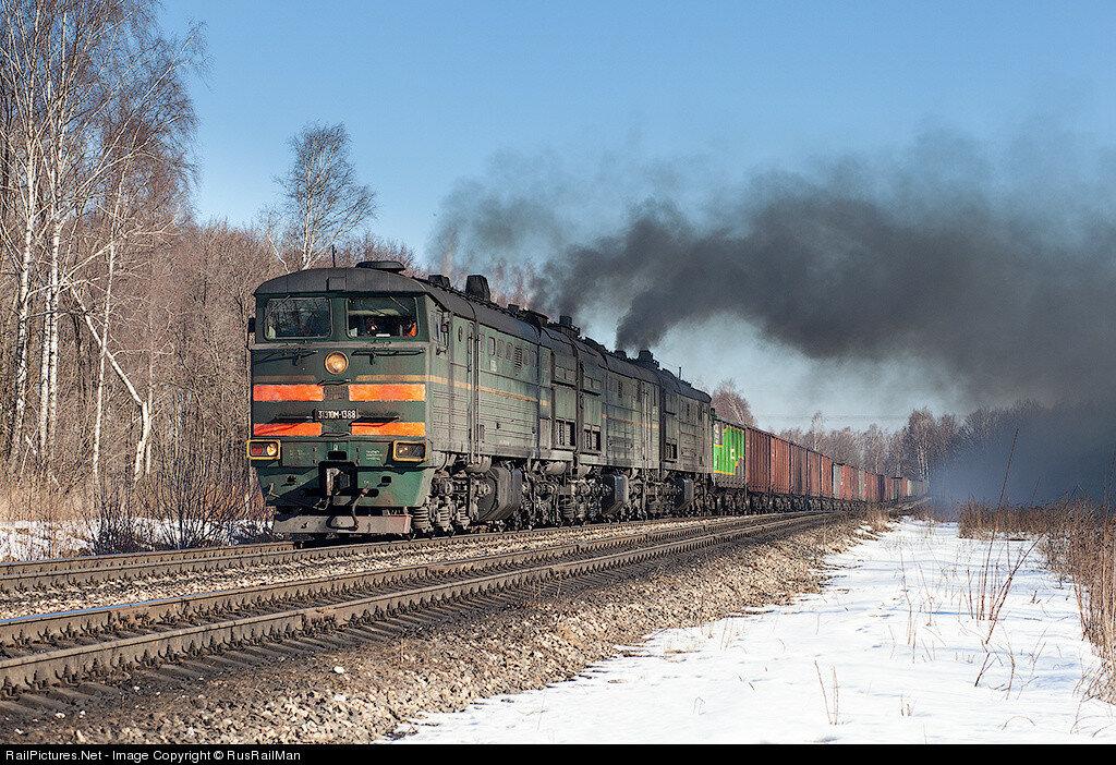 RZD 3TE10M-1388, Near Ozherelye station, Kashira, Russia, February 18, 2012.