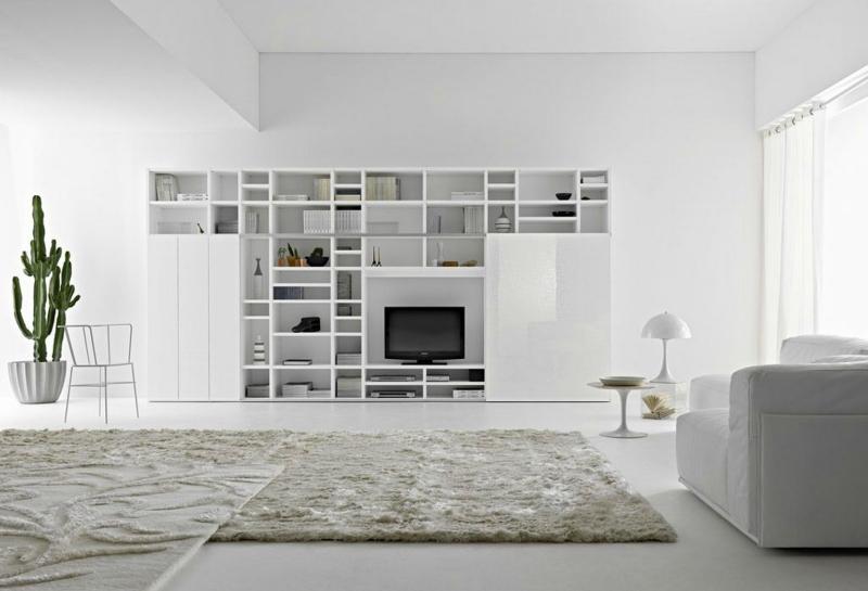 Белый цвет в интерьере гостиной, фото 16