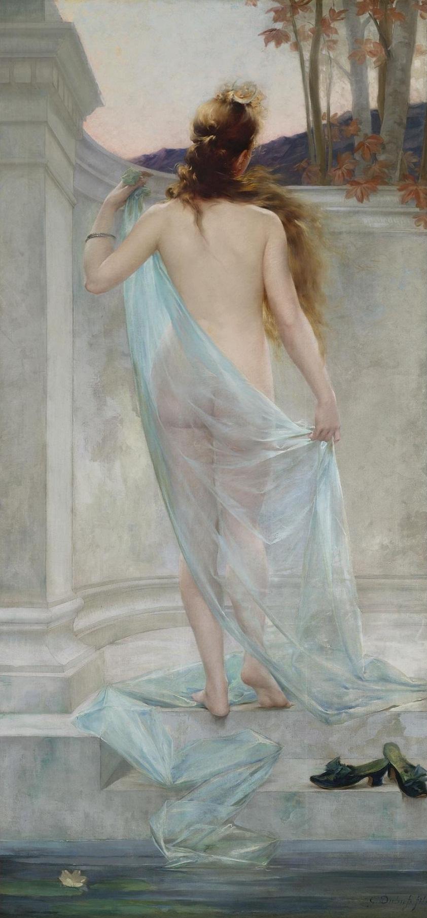 Édouard-Marie-Guillaume Dubufe FRENCH DIANA LEAVING HER BATH аукцион Сотбис