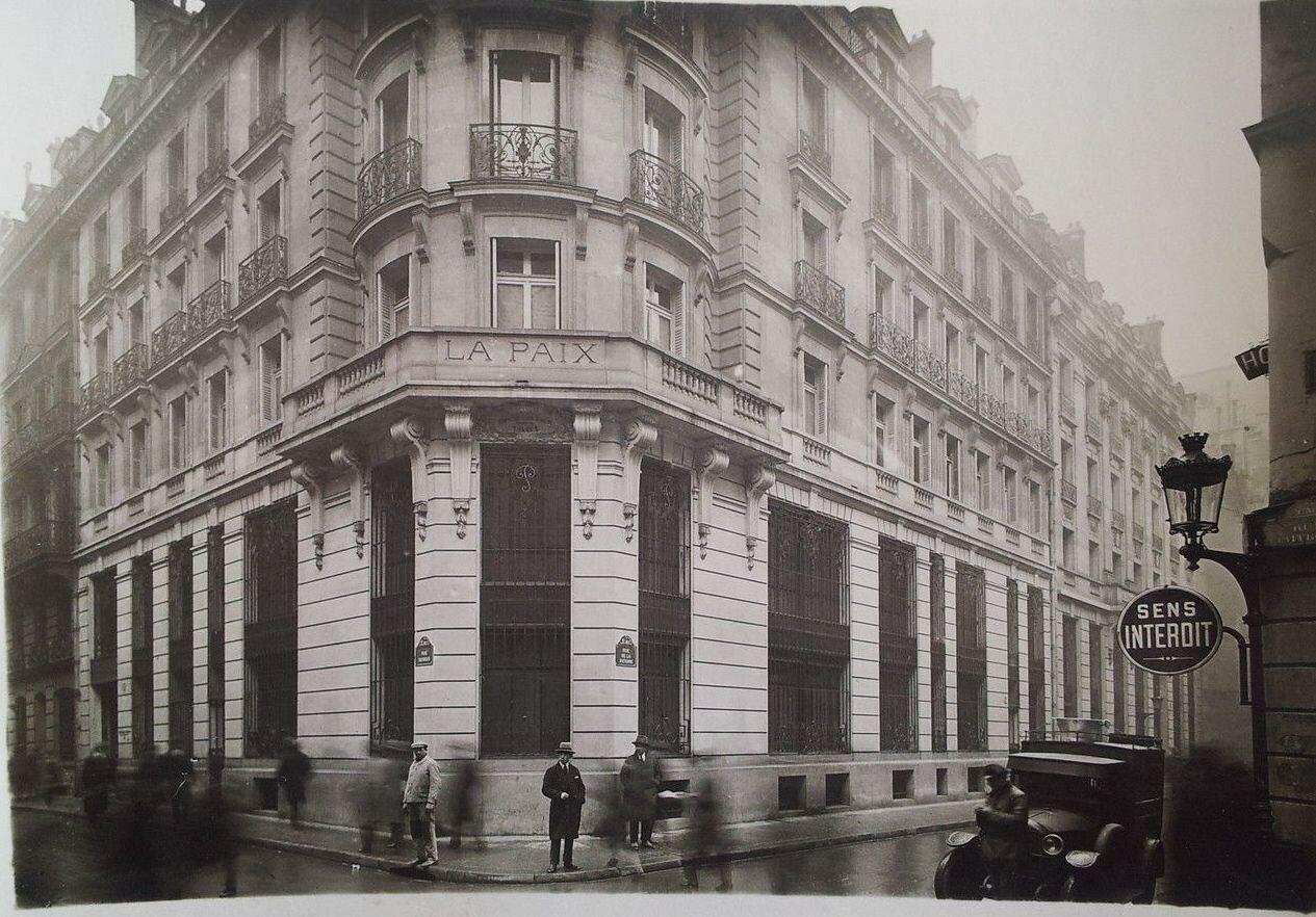 1930-е. «Hotel de la Paix», на углу улиц Тэбу и Виктория