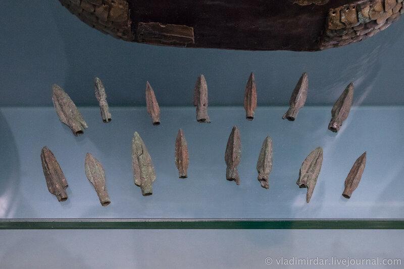 Наконечники стрел. Бронза. VII-VI в до н.э. Хутор Лебеди, 1980, раскопки Э.Л. Дубмана.