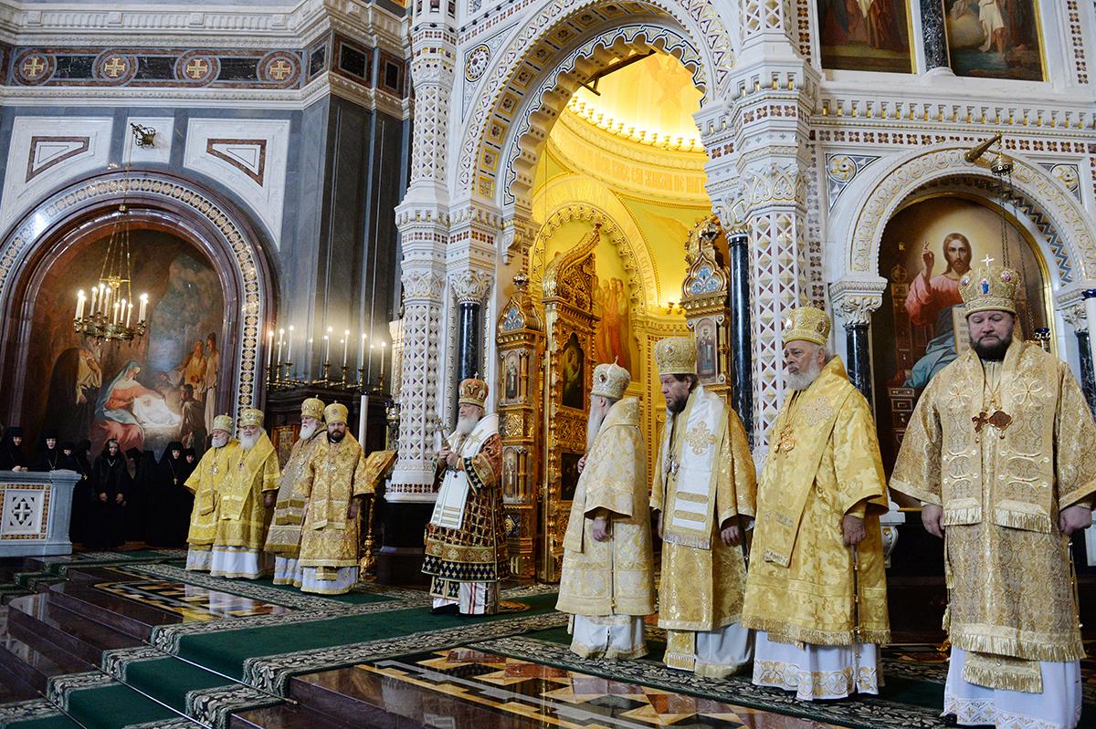 Литургия 20 марта 2016 Храм Христа Спасителя Торжество Православия.