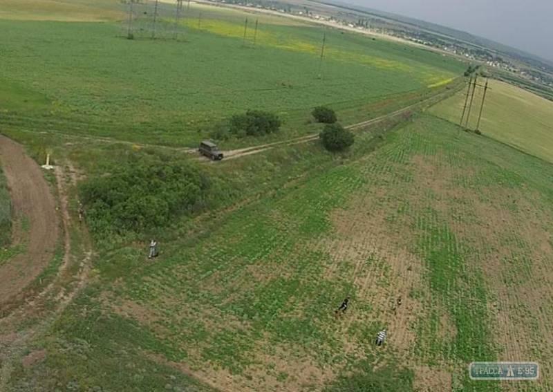 Пограничники с помощью беспилотника обнаружили четырех нарушителей границы на Одесчине