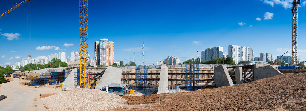 Панорама будущей станции «Мичуринский проспект»