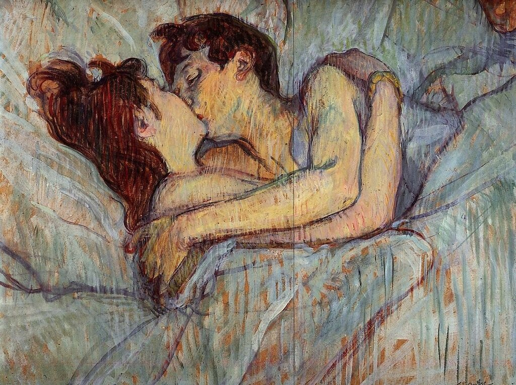 In Bed - The Kiss - 1892 - PC - Painting - oil on cardboard.jpg