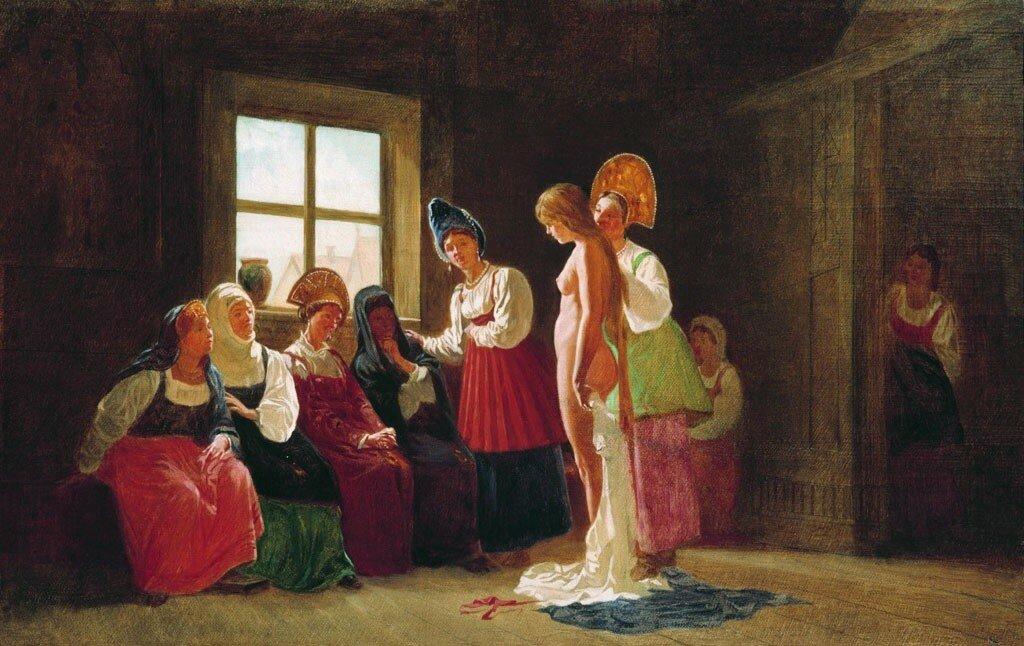 «Смотрины невесты». 2-я пол XIX в. Государственный Русский музей, Санкт-Петербург
