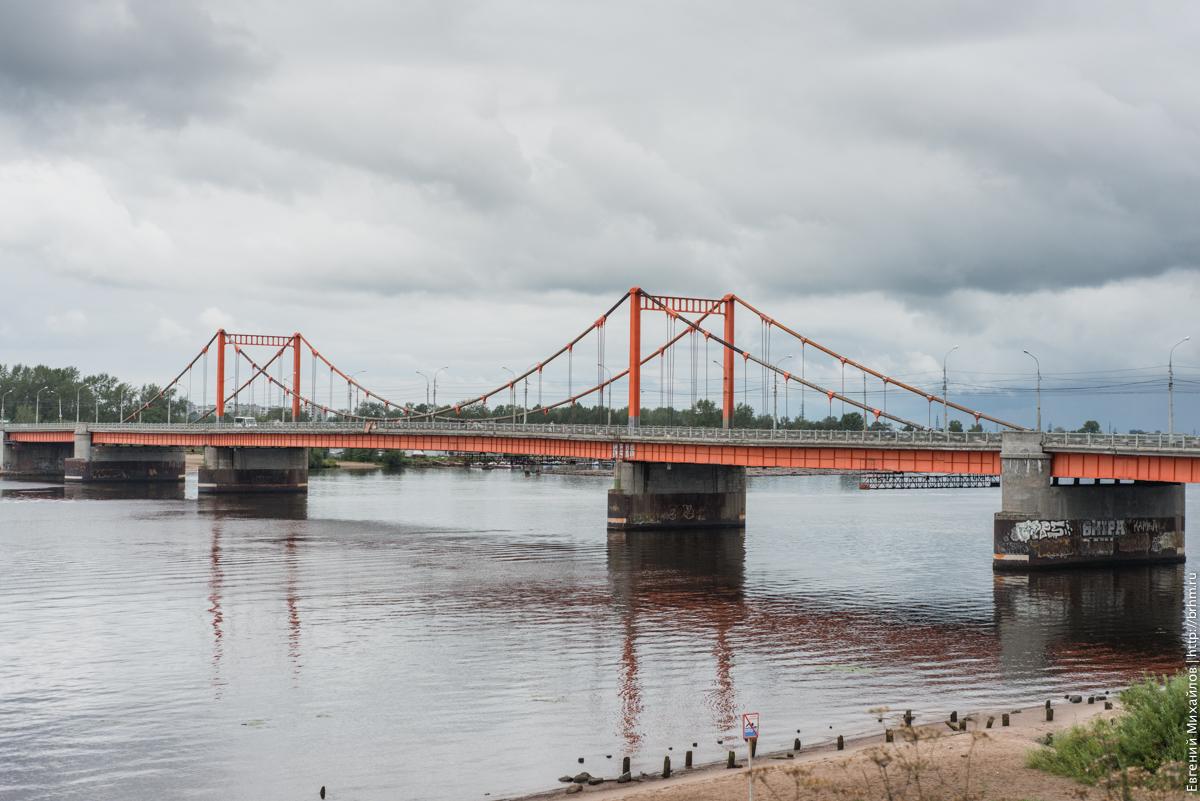 Кузнечевский мост Архангельск