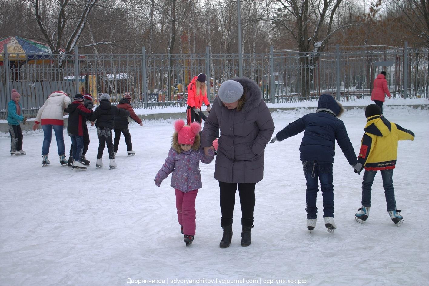 Дети в парке ВГС - 28 января 2017