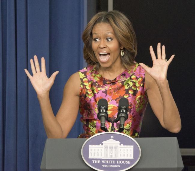 © Patsy Lynch/REX/Shutterstock  Живая иестественная, Мишель Обама вызывает нетолько симпатию