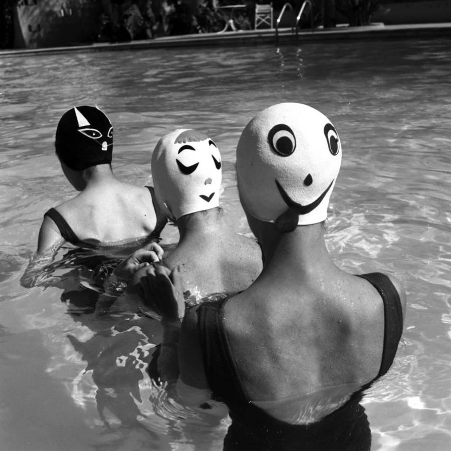 Прелестные «двуликие» шапочки для плавания из далёких 1950-х годов