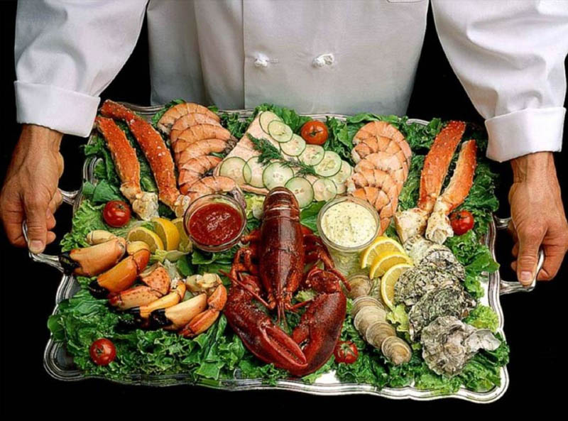 А также все морепродукты, включая устриц, креветок и лобстеров Живете во Франции, Испании, Италии, П