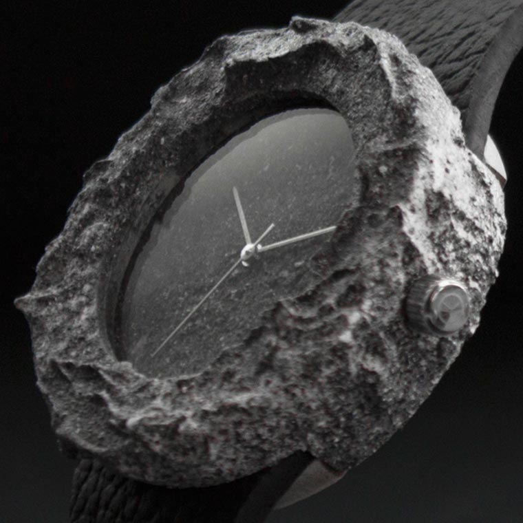 Lunar Watch – This watch is carved from a genuine rock from the Moon! (7 pics)