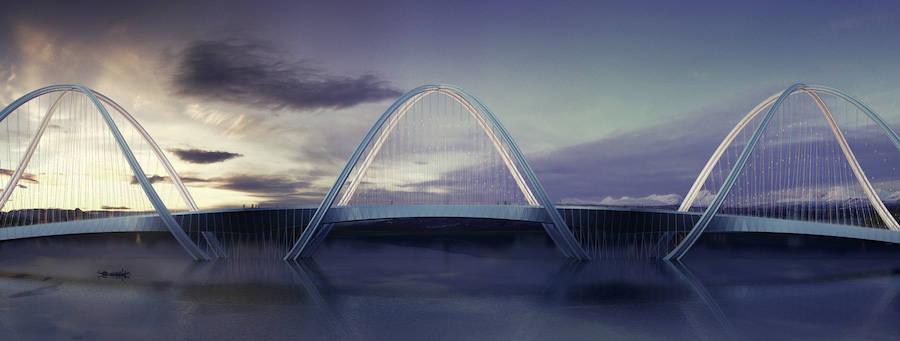 Bridge Concept Sculpted for the 2022 Beijing Winter Olympics (8 pics)