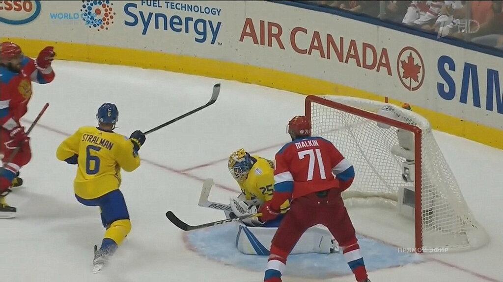 Россия проиграла Швеции в стартовом матче на Кубке мира по хоккею 1:2