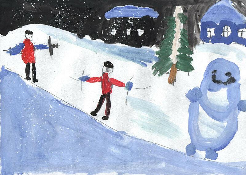 """детский рисунок """"Зима"""""""