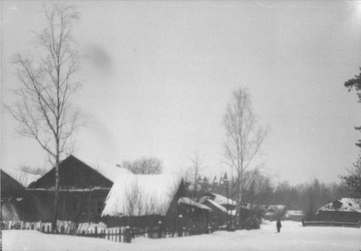 Сельский зимний пейзаж