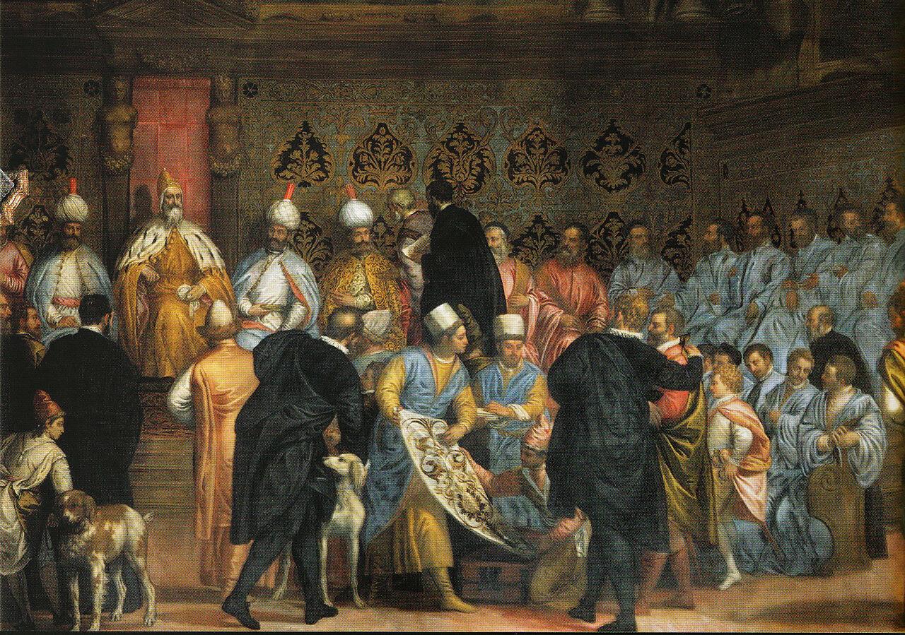 Carlo Caliari and Gabriele Calliari, Shah Abbas' first embassy to Europe, Venice 1595..jpg