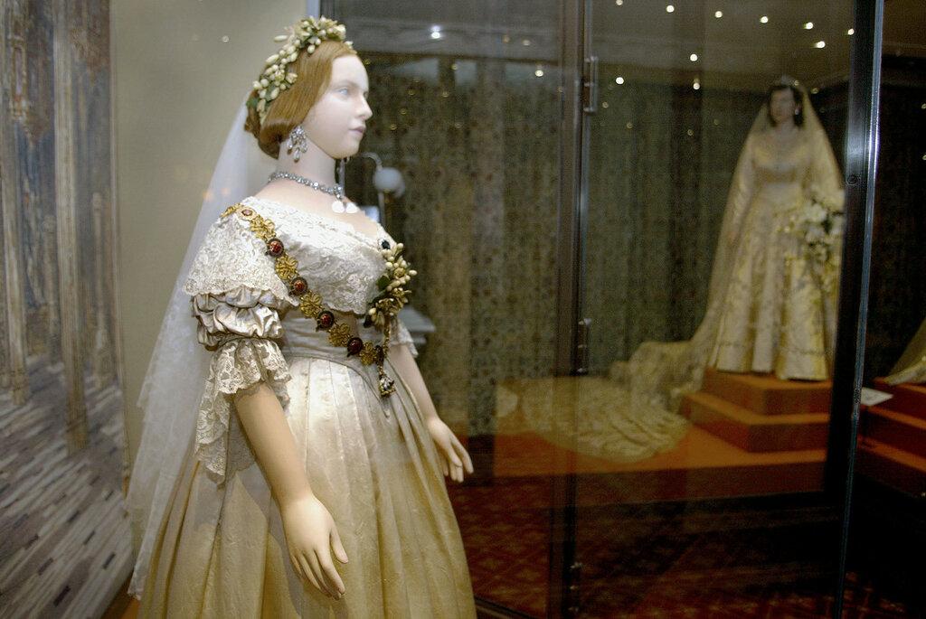 ''A Century of Queens Wedding Dresses'' Exhibition , London.