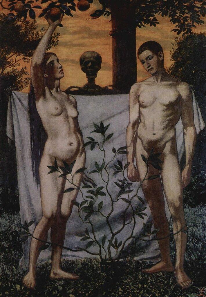 27. Thoma, Hans - Adam And Eve, 1897.jpg
