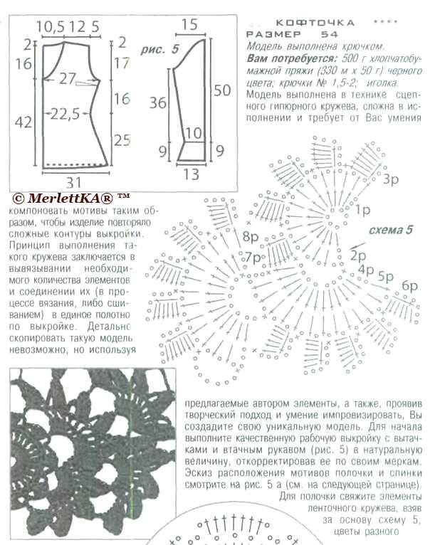 Схемы сцепное гипюрное кружево 830