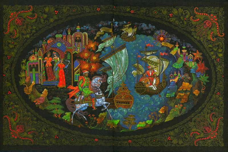 Сказка Аленький цветочек в иллюстрациях