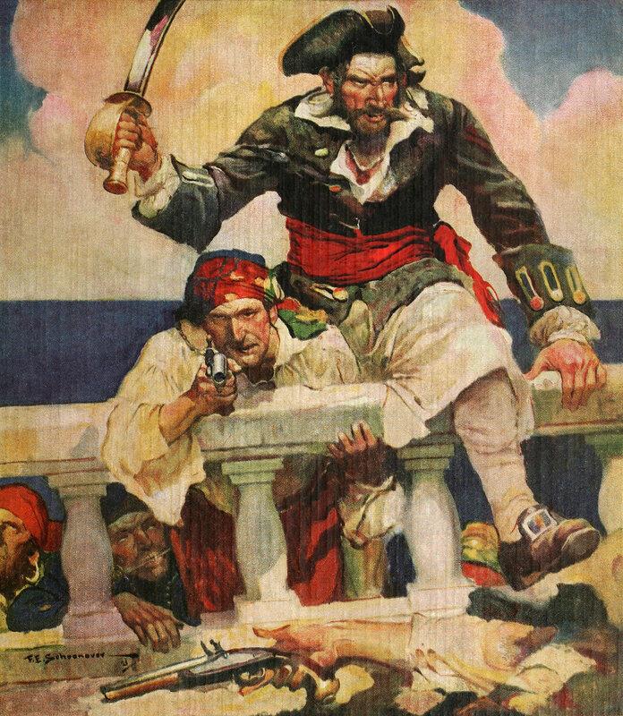 Cover of Blackbeard, Buccaneer-1922